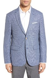 Sand Men's Trim Fit Check Wool And Linen Sport Coat