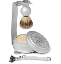 Czech And Speake Oxford And Cambridge Shaving Set And Stand Silver