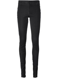 Isaac Sellam Experience Leather Leggings Black