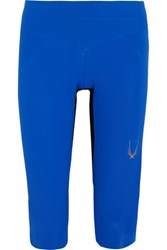 Lucas Hugh Core Performance Cropped Stretch Jersey Leggings Bright Blue