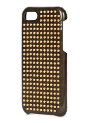 The Case Factory Gunmetal Studded Patent Leather Iphone 7 Black