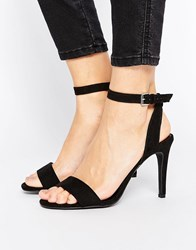 New Look Suedette Barely There Heeled Sandal Black