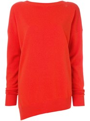 Tomas Maier Soft Cashmere Sweater Yellow And Orange