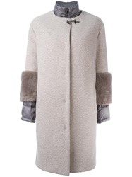 Fay Sleeve Detail Coat Nude Neutrals