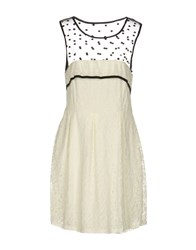 Molly Bracken Short Dresses Ivory