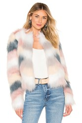 By The Way Shiloh Faux Fur Jacket Gray