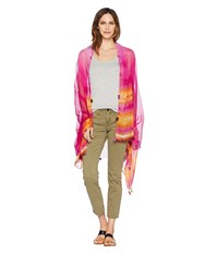 Collection Xiix Tie Dye Stripe Oversized Wrap Pink Clothing
