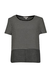 Great Plains Polka Polka Tee Top Black Multi