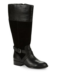 Lauren Ralph Lauren Maryann Wide Calf Suede Riding Boots Black