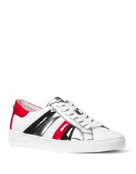 Michael Michael Kors Conrad Leather Sneakers Black Red