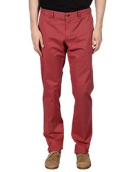 Faconnable Casual Pants Brick Red