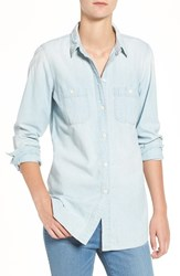 Madewell Women's Chambray Slim Boyfriend Shirt