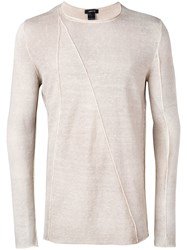 Avant Toi Long Sleeve Fitted Sweater Neutrals