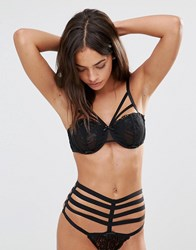 Pour Moi Contradiction By Strapped Underwire Bra Black