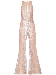 Zuhair Murad Sequinned Jumpsuit Pink Purple