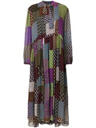 Maurizio Pecoraro Patchwork Print Dress Multicolour