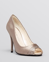 Caparros Peep Toe Evening Pumps Odell Fawn