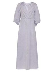 Thierry Colson Phoebe Bell Sleeved Cotton Dress Light Grey