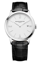Baume And Mercier Classima Leather Strap Watch 40Mm
