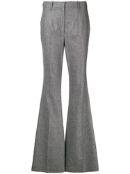 Michael Kors Collection High Waisted Flared Trousers Grey
