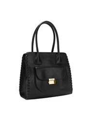 Folli Follie Fashion Braid Black Tote Bag Black