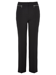 Viyella Zip Detail Crepe Trousers Black
