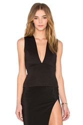 By Johnny V Plunge Shell Top Black