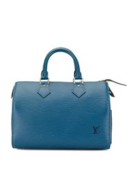 Louis Vuitton Vintage Speedy 25 Epi Bag Blue