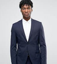 Selected Homme Suit Jacket With Stretch In Slim Fit Navy
