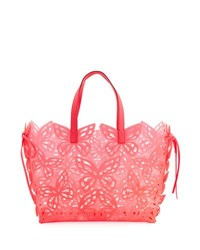 Sophia Webster Liara Butterfly Jelly Tote Bag Magenta