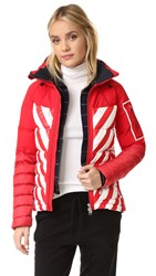 Perfect Moment Amak Jacket White Red