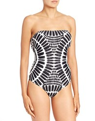 Trina Turk Algiers Printed One Piece Swimsuit Black