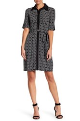 Laundry By Shelli Segal Geo Print Dress Petite Black