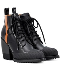 Chloe Rylee Leather Ankle Boots Black