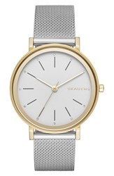 Skagen Women's 'Hald' Round Mesh Strap Watch 34Mm