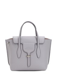 Tod's Small Leather Top Handle Bag Light Grey