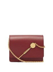 Sophie Hulme Micro Leather Cross Body Bag Burgundy