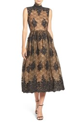 Tracy Reese Women's Embroidered Lace Midi Dress