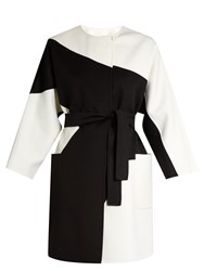Max Mara Chic Coat Black White