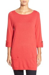 Petite Women's Caslon Knit Tunic Red Beauty