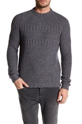 Woolrich John Rich And Bros Chunky Knit Sweater Gray