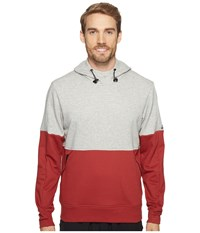 Adidas Sport Id French Terry Pullover Hoodie Medium Grey Heather Mystery Red S17 Men's Long Sleeve Pullover