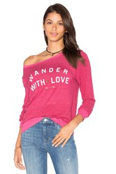 Spiritual Gangster Wander With Love Pullover Fuchsia
