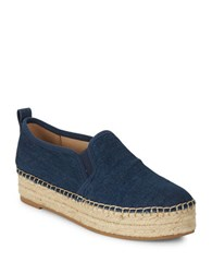 Sam Edelman Carrin Slip On Espadrille Flats Navy Blue