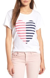 Sundry Women's Split Heart Boy Tee
