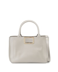 Ines East West Small Tote Bag Gray Roger Vivier