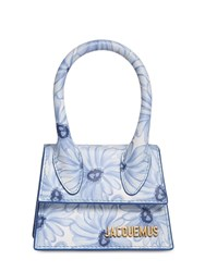 Jacquemus Le Chiquito Printed Leather Bag Blue