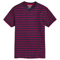 Joules Boathouse Slub Cotton Striped T Shirt French Navy Red
