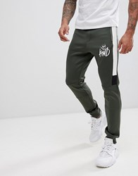 Kings Will Dream Mert Joggers In Khaki With Contrast Panels Green