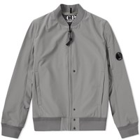 C.P. Company Softshell Arm Lens Bomber Jacket Grey